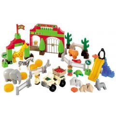 Set Constructii Zoo Park cu 98 de Piese_1