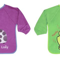 Bib with Sleeves Color Terry with Embroydery 1026006