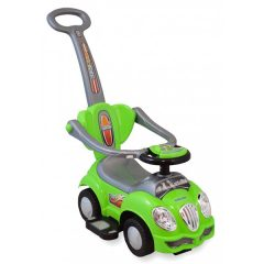 Masinuta de impins pentru copii Baby Mix HZ 558W 3 in 1 Cute Car Green