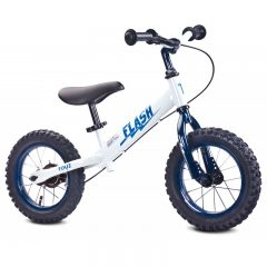 bicicleta-fara-pedale-toyz-flash-cu-cadru-metalic-si-roti-gonflabile-white